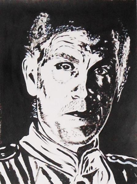 Acrylmalerei, Malerei, Portrait, John malkovich