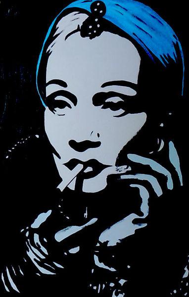 Portrait, Acrylmalerei, Malerei,