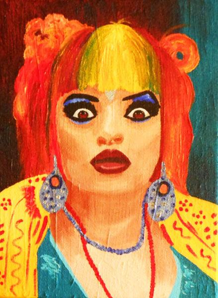 Acrylmalerei, Portrait, Nina hagen, Popart, Malerei