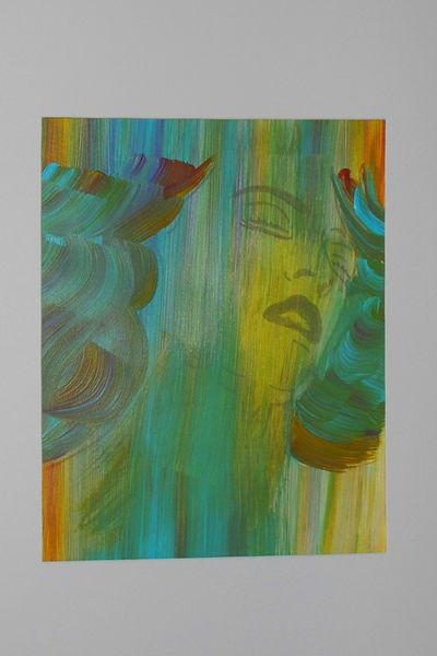 Mythologie, Nixe, Acrylmalerei, Malerei, Wasser