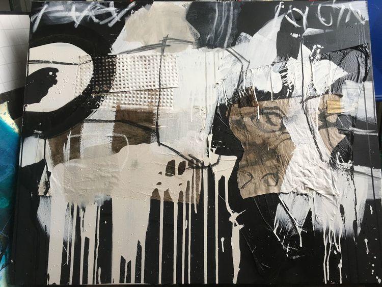 Abstrakt, Technik, Acrylmalerei, Malerei,