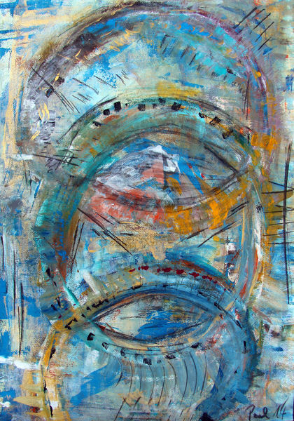 Bunt, Gouachemalerei, Abstrakt, Malerei, Augenblick,
