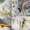 Grau, Abstrakt, Malerei,