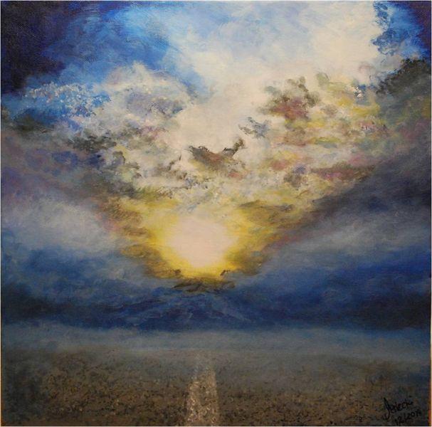 Nebel, Straße, Sonnenstrahlen, Wolken, Bewusstsein, Himmel