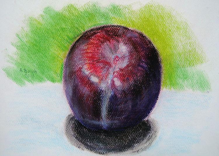Obst, Früchte, Rot, Violett, Pflaume, Zeichnungen