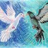 Liebespaar, Weiß, Verlieben, Fliegen
