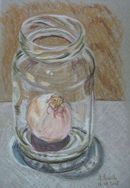 Glas, Zwiebeln, Einmachglas, Zeichnungen,