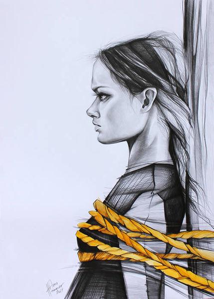 Frau, Märchen, Portrait, Illustrationen, Sagen