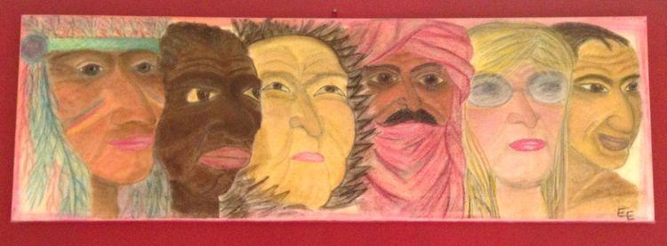 Kultur, Gesicht, Malerei