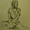 Akt, Bleistiftzeichnung, Menschen, Zeichnung