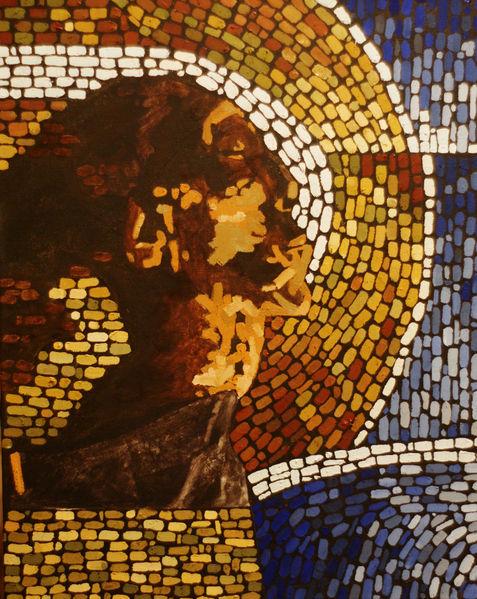 Mosaik, Mumie, Malerei