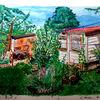 Gartenhauslisa, Pflanzen, Aquarellmalerei, Natur