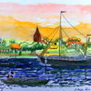 Schiff, Rerik, Natur, Aquarellmalerei