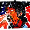 Gesicht, Acrylmalerei, Zappa, Malerei