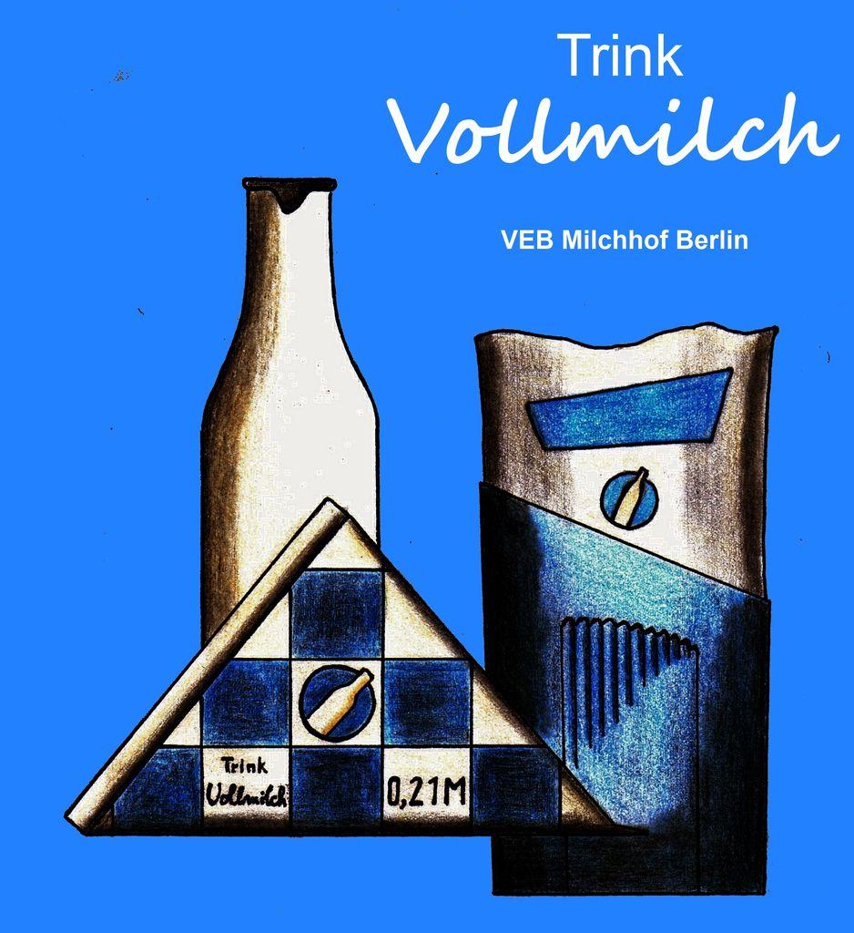 Bild: Ddr trink, Vollmilch, Zeichnungen von Rene Haferkorn bei ...: kunstnet.de/werk/266641-ddr-trink-vollmilch