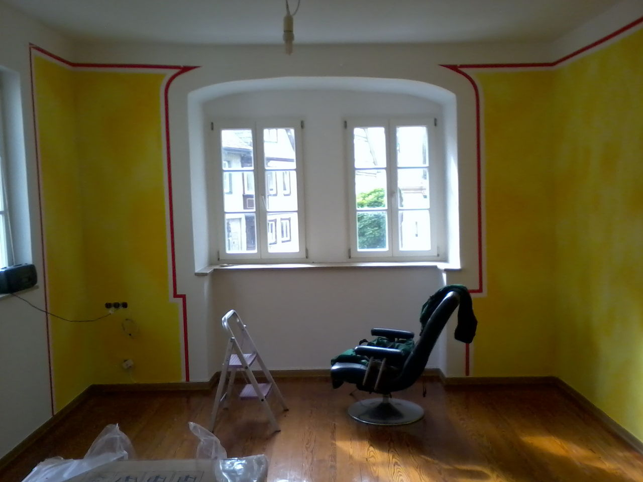 Neues wohnzimmer 1 gestaltung lasurtechnik volltonfarbe wandgestaltung von leonard hoffmann - Neues wohnzimmer ...