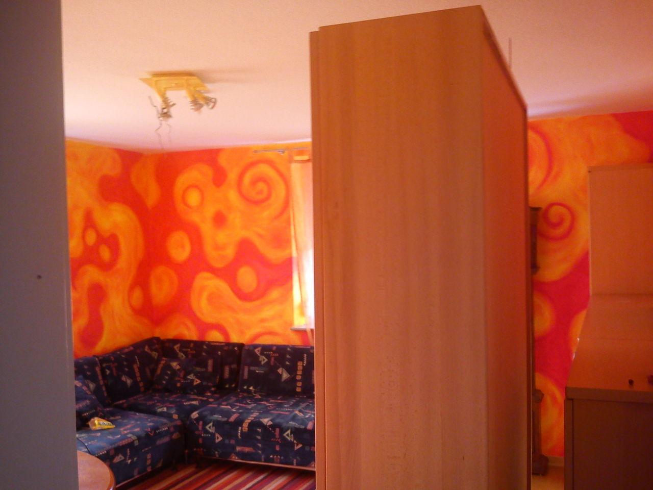 Wohnzimmer 1 - Wandgestaltung, Gestaltung, Farben, Volltonfarbe von ...