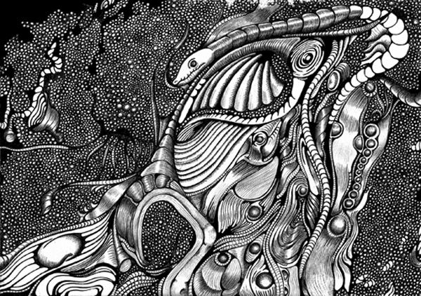 Zeichnung, Kugelschreiber, Grafik, Abstrakt, Zeichnungen