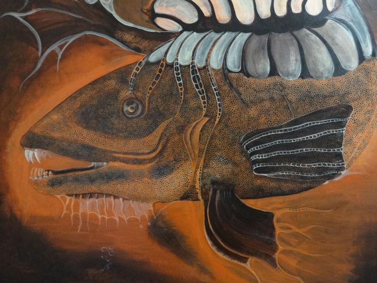 Fisch, Acrylmalerei, Pinsel, Tiere, Meer, Malerei