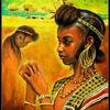 Afrika, Menschen, Kopfschmuck, Mädchen