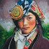 Kultur, Acrylmalerei, Blick, Tibet