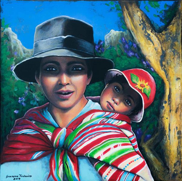 Kind, Malerei, Ausdruck, Natur, Acrylmalerei, Bolivien