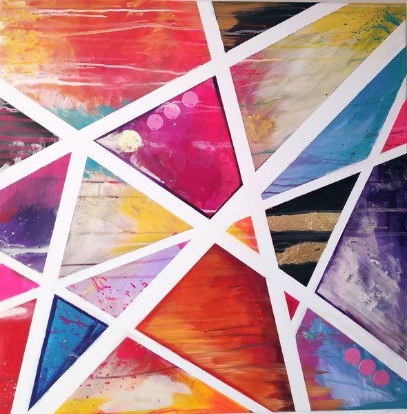 Pink, Streifen, Dreieck, Abstrakt, Linie, Lila