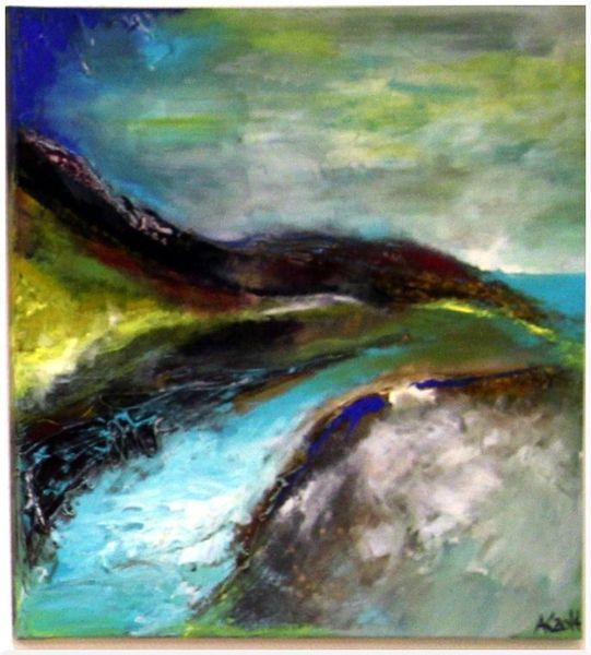Ozean, Abstrakt, Himmel, Landschaft, Wasser, Blau