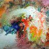 Collage, Neon, Landschaft, Spritzer