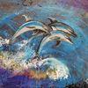Springen, Wasser, Ozean, Delfin