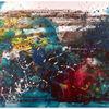 Klecksen, Fließen, Bunt, Acrylmalerei