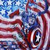America first, Realistische impressionismus, Captan america, Malerei