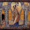 Rotunde michaeliskirche fulda, Madonna, Maria mit jesus, Malerei