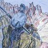 Panza, Studie, Quijote, Buntstiftzeichnung