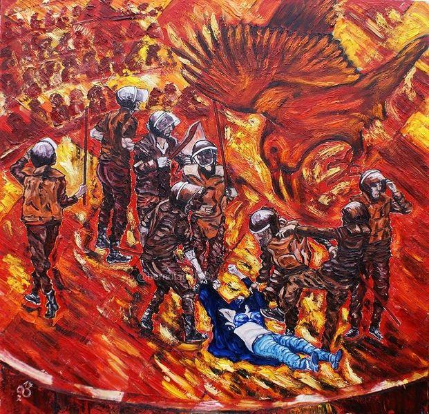 Fotografie, Publikum, 2011 demo kairo, Gewalt, Ägypten, Beobachten