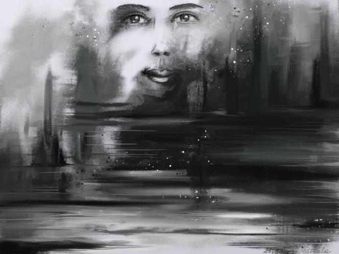 Gefühl, Schicksal, Frau, Fantasie, Gesicht, Tränenmeer