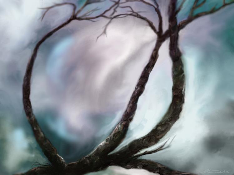 Natur, Fantasie, Baum, Digitale kunst, Malerei
