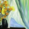 Fantasie, Bunt, Blumen, Gardine
