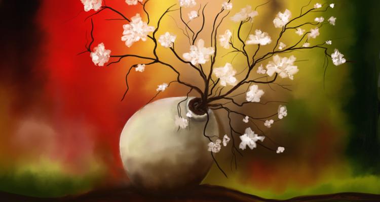 Blumen, Fantasie, Digitale kunst, Surreal,
