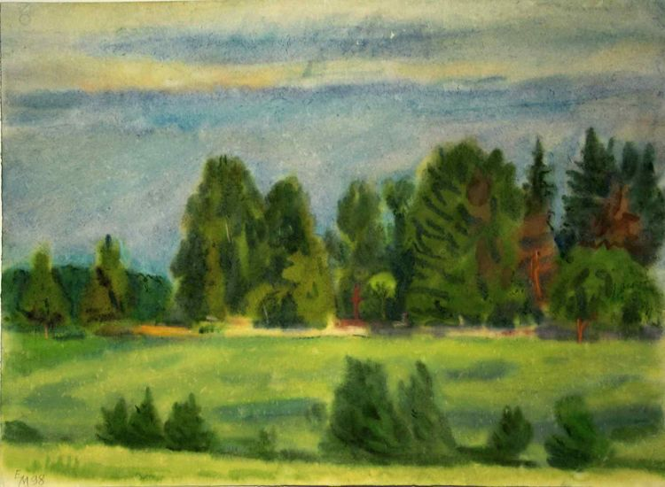 Aquarellmalerei, Natur, Malerei, Landschaft, Aquarell