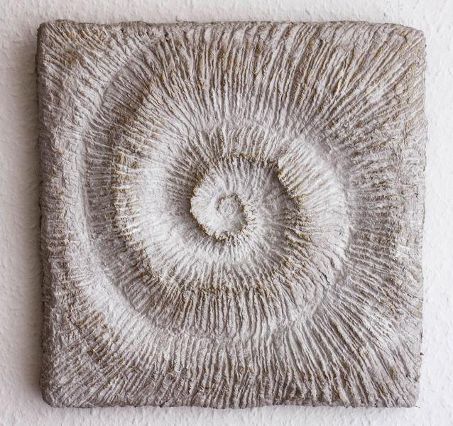 Natürlich, Skulptur, Schnecke, Relief, Zement,