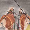 Zeichnung pastell, Kutsche, Tiere pferd, Haflinger