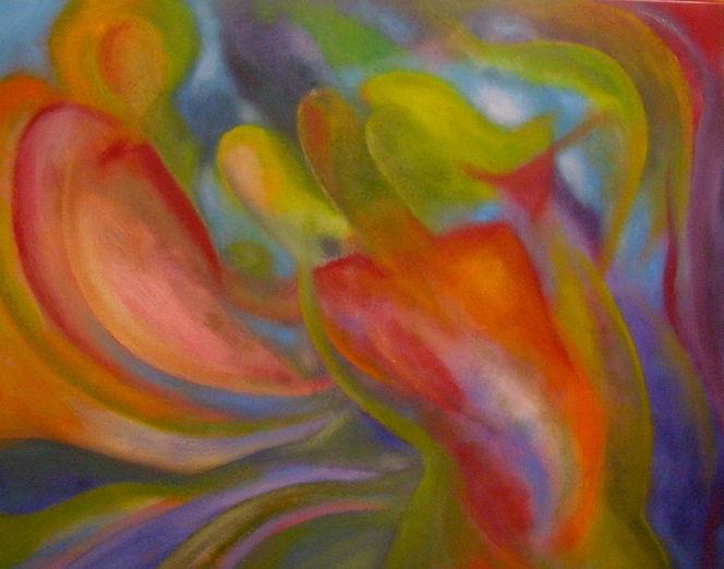 Fluss, Traumwelten, Farben und formen, Malerei, Licht