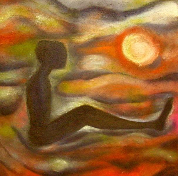 Farben und formen, Traumwelt, Fluss, Malerei