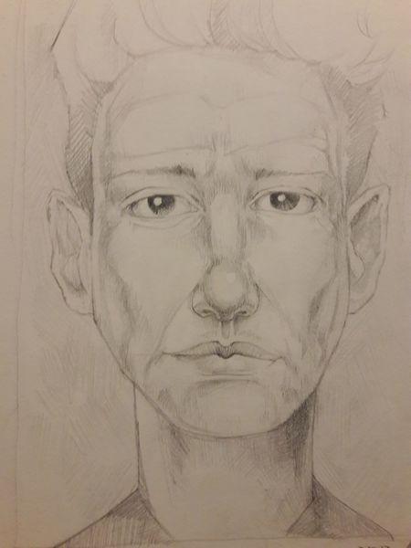 Bleistiftzeichnung, Portrait, Emotion, Zeichnungen, Studie, Gesicht