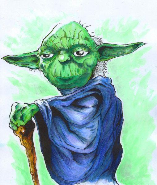 Comic, Yoda, Mischtechnik