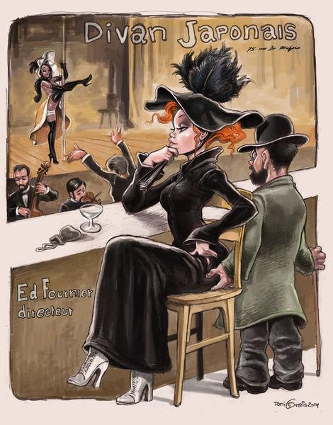 Paris, Nachtclub, Toulouse, Lautrec, Illustrationen