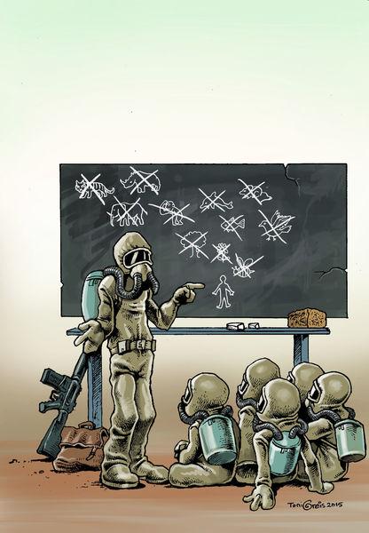 Aussterben, Schüler, Natur, Zukunft, Umweltzerstörung, Unterricht