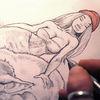Zeichnung, Rotkäppchen, Wolf, Zeichnungen