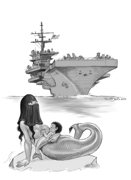 Meer, Mermay, Meerjungfrau, Nixe, Zeichnungen
